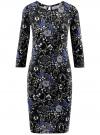 Платье трикотажное с вырезом-капелькой на спине oodji #SECTION_NAME# (черный), 24001070-5/15640/2970F