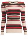 Джемпер полосатый с круглым вырезом oodji для женщины (разноцветный), 63807302/45716/3345S