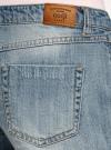 Шорты джинсовые с потертостями oodji #SECTION_NAME# (синий), 12807075-1/42559/7000W - вид 5