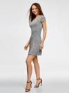 Платье трикотажное с воланами oodji #SECTION_NAME# (черный), 14011017/46384/2910F - вид 6