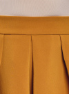 Юбка расклешенная со встречными складками  oodji #SECTION_NAME# (желтый), 11600396-1/43102/5700N - вид 4