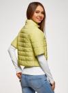 Куртка стеганая с короткими рукавами oodji для женщины (желтый), 10207003/45420/5001N - вид 3