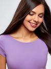Платье миди с вырезом на спине oodji для женщины (фиолетовый), 24001104-5B/47420/8001N - вид 4