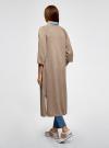 Кардиган удлиненный без застежки oodji для женщины (бежевый), 63207188/46404/3500M - вид 3
