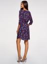 Платье вискозное с рукавом 3/4 oodji #SECTION_NAME# (синий), 11901153-1B/42540/7945E - вид 3