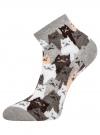 Комплект из шести пар хлопковых носков oodji для женщины (серый), 57102418-5T6/48418/15 - вид 4