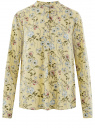 Блузка вискозная А-образного силуэта oodji #SECTION_NAME# (желтый), 21411113-1B/48458/5070F