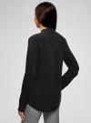 Блузка из вискозы с воротником-стойкой oodji #SECTION_NAME# (черный), 21411063-3B/48458/2900N - вид 3