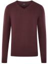 Пуловер базовый с V-образным вырезом oodji #SECTION_NAME# (красный), 4B212007M-1/34390N/4900M