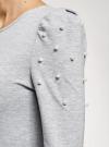 Платье с бусинами на плечах oodji #SECTION_NAME# (серый), 14000171-3/46148/2012Z - вид 5