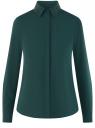 Блузка с декором на воротнике oodji для женщины (зеленый), 11403172-3/31427/6900N