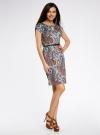 Платье трикотажное с ремнем oodji #SECTION_NAME# (бирюзовый), 24008033-2/16300/7333E - вид 6