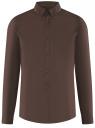 Рубашка базовая приталенная oodji #SECTION_NAME# (коричневый), 3B140002M/34146N/3900N