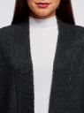 Кардиган вязаный удлиненный oodji для женщины (черный), 63207191/45921/2912M