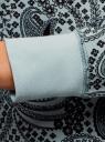 Свитшот принтованный с круглым вырезом oodji для женщины (бирюзовый), 14807021-1/46919/656DE