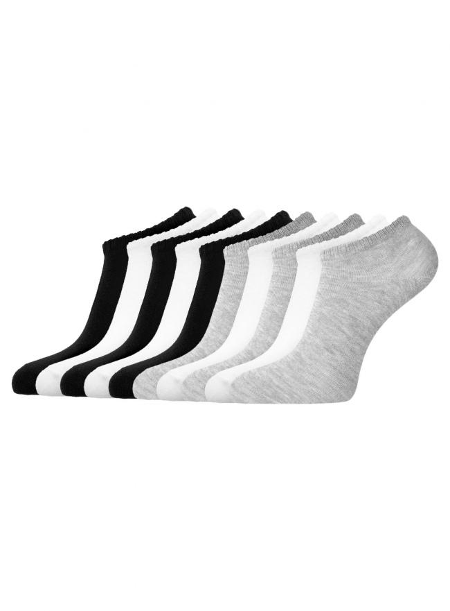Комплект укороченных носков (10 пар) oodji для женщины (разноцветный), 57102433T10/47469/1901N