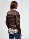Куртка стеганая с круглым вырезом oodji #SECTION_NAME# (коричневый), 10203050-2B/33445/3900N - вид 3
