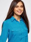 Блузка базовая из вискозы oodji #SECTION_NAME# (синий), 11400355-5/26346/7500N - вид 4