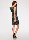 Платье-футляр без рукавов oodji для женщины (черный), 14015001/36233/2933A - вид 3