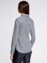 Рубашка прямого силуэта хлопковая oodji #SECTION_NAME# (серый), 11403204-3/38544/1079G - вид 3