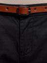 Брюки-чиносы базовые oodji для женщины (черный), 11705015B/42841/2900N
