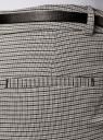 Брюки жаккардовые с ремнем oodji для женщины (белый), 21706021-7/48243/1229C