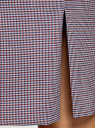 Юбка прямая жаккардовая oodji для женщины (серый), 21601236-11/46284/4975C