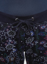 Брюки трикотажные на завязках oodji #SECTION_NAME# (синий), 16701042-1/46919/7980F - вид 4