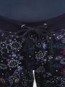 Брюки трикотажные на завязках oodji для женщины (синий), 16701042-1/46919/7980F