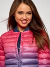 Куртка стеганая с круглым вырезом oodji #SECTION_NAME# (розовый), 10204040-1B/42257/4D79T - вид 4