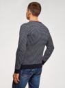 Пуловер прямого силуэта с контрастной отделкой oodji #SECTION_NAME# (синий), 4L212171M/25255N/7910J - вид 3