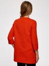 Пальто из фактурной ткани на крючках oodji #SECTION_NAME# (красный), 10103015-1/46409/4500N - вид 3