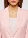 Жакет льняной с широким ремнем oodji #SECTION_NAME# (розовый), 21202076-2/45503/4000N - вид 4