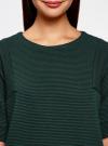 Платье в рубчик свободного кроя oodji для женщины (зеленый), 14008017/45987/6900N