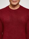 Джемпер прямого силуэта с круглым вырезом oodji #SECTION_NAME# (красный), 4L107131M/48731N/4C00M - вид 4