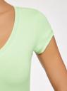 Футболка базовая oodji для женщины (зеленый), 14711002B/46157/6A00N