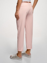 Брюки-чиносы базовые oodji для женщины (розовый), 11705015B/42841/4000N