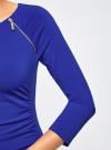 Платье с декоративными молниями принтованное oodji #SECTION_NAME# (синий), 24007024/43121/7500N - вид 5
