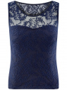 Топ кружевной oodji для женщины (синий), 14305008-2/45495/7900N