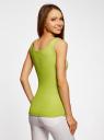 Майка базовая oodji для женщины (зеленый), 14315001B/45307/6A00N