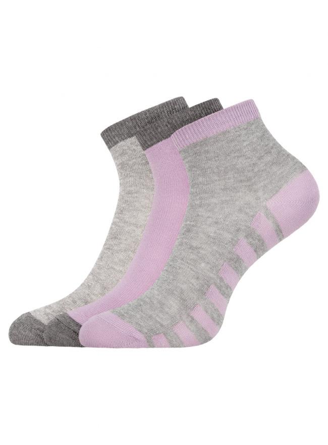 Комплект из трех пар укороченных носков oodji для женщины (разноцветный), 57102418T3/47469/19STS