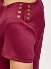 Платье приталенное с металлическим декором на плечах oodji #SECTION_NAME# (красный), 14001177/18610/4900N - вид 5