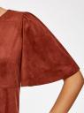 Платье из искусственной замши свободного силуэта oodji #SECTION_NAME# (красный), 18L11001/45622/4900N - вид 5