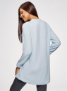 Платье флисовое с аппликацией oodji #SECTION_NAME# (синий), 59801019/24018/7010P - вид 3