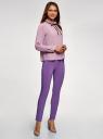 Блузка с декоративными завязками и оборками на воротнике oodji #SECTION_NAME# (фиолетовый), 11411091-2/36215/8000N - вид 6