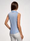 Рубашка базовая без рукавов oodji #SECTION_NAME# (синий), 14905001-1B/12836/7001N - вид 3