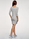 Платье трикотажное базовое oodji #SECTION_NAME# (белый), 14001071-2B/46148/1279S - вид 3