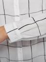 Блузка вискозная прямого силуэта oodji #SECTION_NAME# (белый), 11411098-3/24681/1229C - вид 5