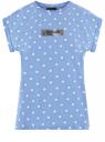 Футболка из хлопка с рукавом реглан oodji для женщины (синий), 14707001-98/46154/7012P