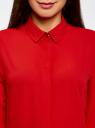 Блузка из струящейся ткани oodji #SECTION_NAME# (красный), 11400368-3/32823/4500N - вид 4